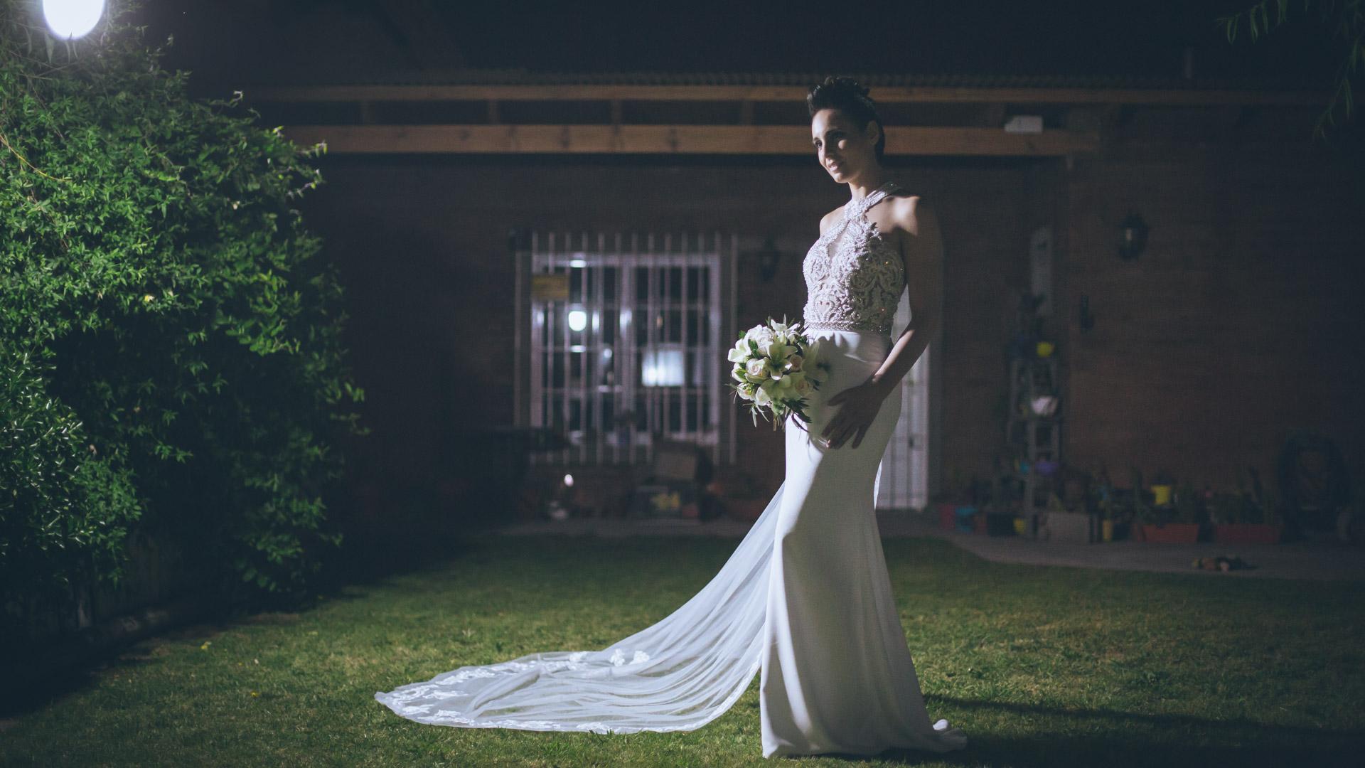 un vestido de novia de Marcela Colos